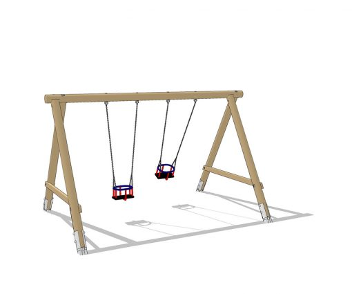 altalena doppia in legno
