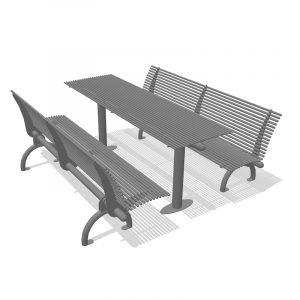 panchine e tavoli per parco